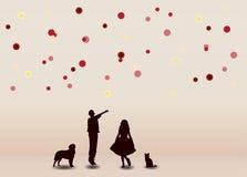 Bambini allegri con le palle variopinte Royalty Illustrazione gratis