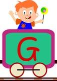 Bambini & serie del treno - G Fotografie Stock Libere da Diritti