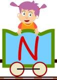 Bambini & serie del treno - N illustrazione di stock