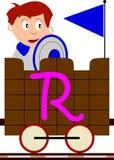 Bambini & serie del treno - R illustrazione vettoriale