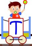 Bambini & serie del treno - T Fotografia Stock Libera da Diritti