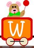Bambini & serie del treno - W royalty illustrazione gratis