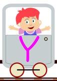 Bambini & serie del treno - Y royalty illustrazione gratis