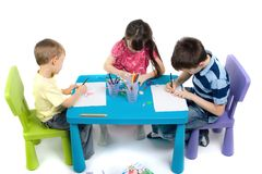 Bambini artistici Fotografie Stock