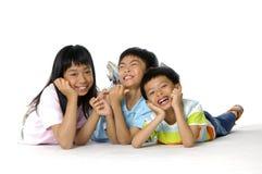 Bambini asiatici svegli Immagini Stock Libere da Diritti
