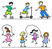 Bambini attivi del fumetto Immagini Stock Libere da Diritti