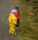 Bambini in autunno Fotografia Stock Libera da Diritti