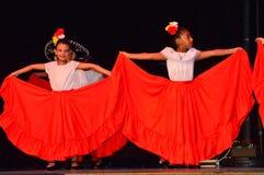 Bambini Ballet Folklorico de Cultural Festival Fotografie Stock Libere da Diritti
