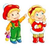 Bambini, Buon Natale illustrazione vettoriale