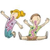 Bambini in buona salute di digestione royalty illustrazione gratis
