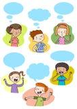 Bambini che comunicano e che pensano Fotografie Stock Libere da Diritti