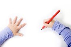 Bambini che disegnano o che scrivono Fotografia Stock Libera da Diritti