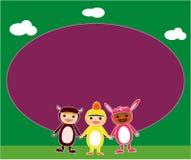 Bambini che giocano agli animali royalty illustrazione gratis