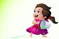 Bambini che giocano festival di Holi royalty illustrazione gratis