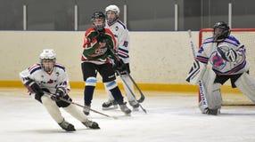 Bambini che giocano hockey Fotografia Stock Libera da Diritti