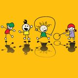 Bambini che giocano i giochi Fotografie Stock Libere da Diritti