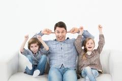 Bambini che gridano Fotografie Stock