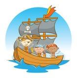 Bambini che navigano al mare Fotografia Stock Libera da Diritti