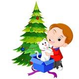 Bambini che ottengono i presente per il Natale illustrazione vettoriale