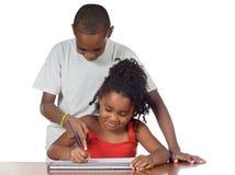 Bambini che studing insieme Immagini Stock