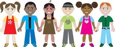 Bambini che tengono le mani 1 Fotografie Stock