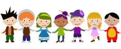 Bambini che tengono le mani Immagini Stock