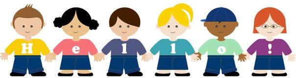 Bambini che tengono le mani Illustrazione di Stock