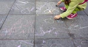 Bambini che verniciano istruzione scolastica dell'illustrazione Fotografie Stock