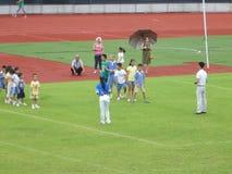 Bambini cinesi nell'addestramento del calcio Fotografia Stock Libera da Diritti