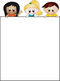 Bambini con documento Fotografie Stock