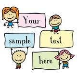 Bambini con i blocchi per grafici royalty illustrazione gratis