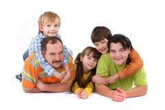 Bambini con i genitori Fotografia Stock Libera da Diritti