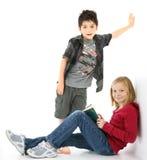 Bambini con i libri Immagine Stock