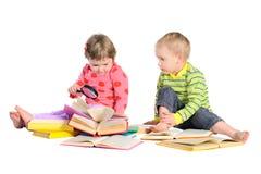 Bambini con i libri Immagine Stock Libera da Diritti