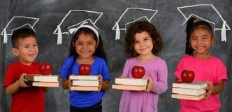 Bambini con i libri Fotografia Stock