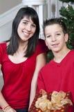 Bambini con i regali Immagine Stock