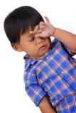 Bambini con l'espressione triste Fotografie Stock Libere da Diritti