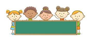 Bambini con la lavagna Immagini Stock
