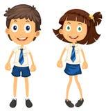 Bambini con la matita royalty illustrazione gratis
