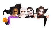 Bambini in costumi di Halloween Immagini Stock