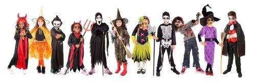 Bambini in costumi di Halloween fotografia stock libera da diritti