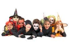 Bambini in costumi di Halloween immagine stock libera da diritti