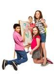 Bambini creativi eccellenti Immagini Stock Libere da Diritti