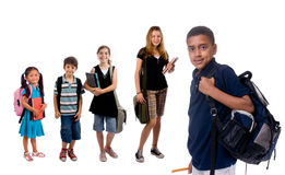 Bambini del banco Immagini Stock