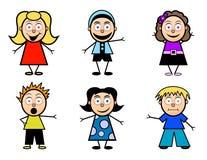 Bambini del banco del fumetto Immagini Stock Libere da Diritti