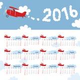 Bambini del calendario di anno illustrazione di stock