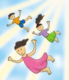 Bambini del cielo Fotografia Stock