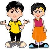 Bambini del fumetto Immagini Stock