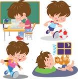 Bambini del fumetto illustrazione di stock