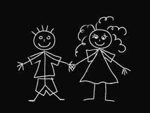 Bambini del gesso illustrazione di stock